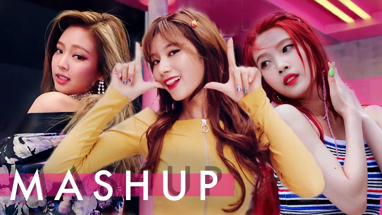 Someone made a Black Pink + Red Velvet + TWICE mashup and it is LIT