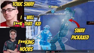 FAZE SWAY FULL TOXIC AFTER HE GETS PICKAXED 2V2 WAGERS Fortnite