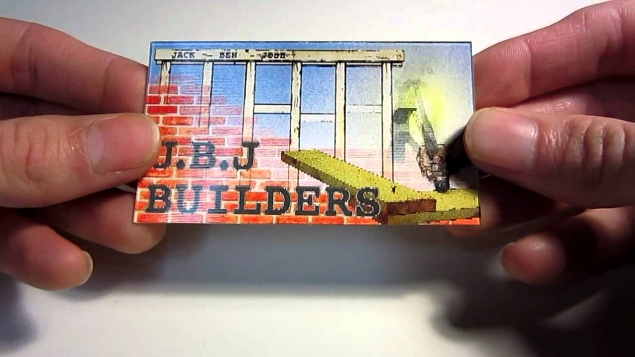 animated lenticular business card demo - Animated Business Cards
