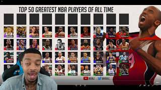 FlightReacts To The 50 Greatest NBA Players of All Time!