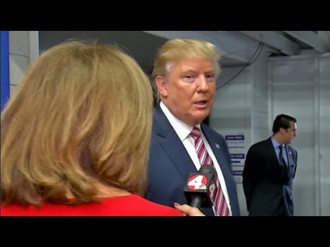 Trump walks off interview after racism question