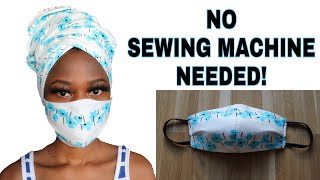 DIY Face Mask // No sewing machine // how to make a medical face mask with no sewing machine needed