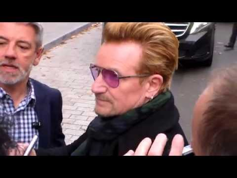BONO / U2 with Fans in Paris 13 november 2015 France