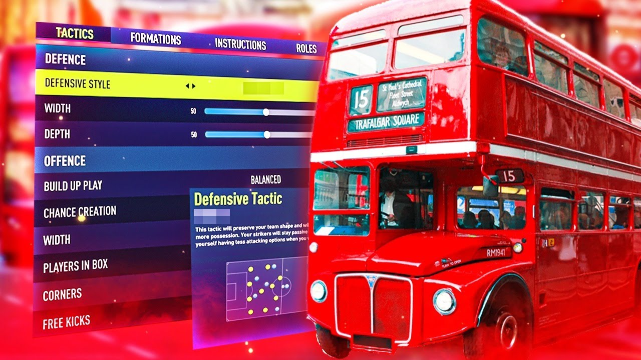 Park the bus in FIFA 22 😈 Custom tactics and instructions to see out a win in FIFA 22 FUT Champs!
