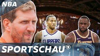Dirk nowitzki über lakers vs clippers i ...