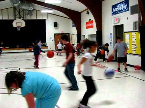 Elementary Basketball Dribbling Games for PE