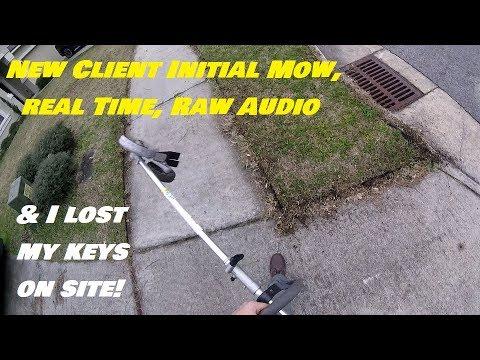 Messy Yard & Tall Grass Gets 2018 Initial Cut - Lost My Keys - New Client Full Service Lawn Care POV