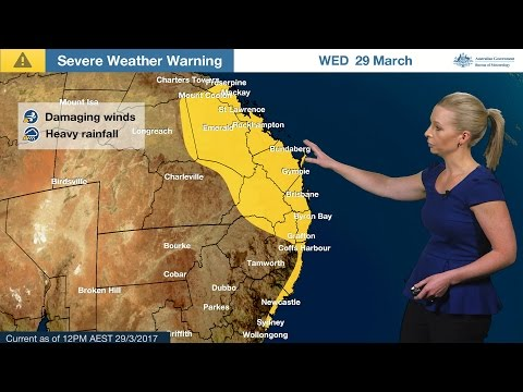 Severe Weather Update: Ex-Tropical Cyclone Debbie, 29 March 2017