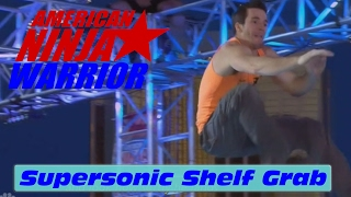 Crazy 15' Supersonic Shelf Grab - American Ninja Warrior 2017 All Star Special