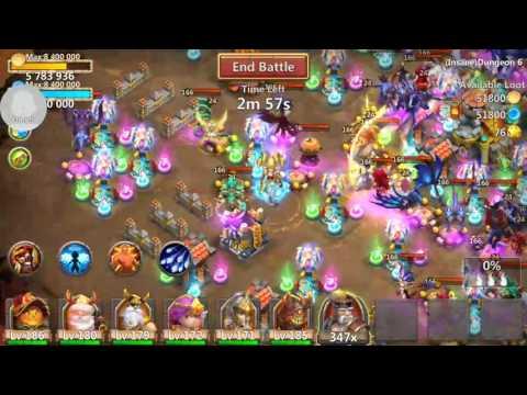 Insane Dungeon 6-8 F2p No Grimfiend.