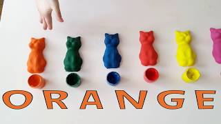 Learn Colors With Rainbow Cats Fun Toys How To Make For Kids