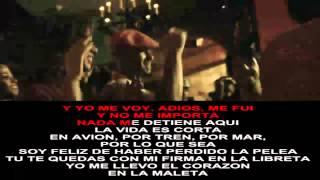 Luis Fonsi - Corazon En La Maleta - Letra Karaoke