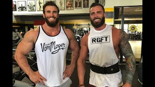 MY BEARDED TWIN, first HEAVY CHEST workout Ft PARKER PHYSIQUE