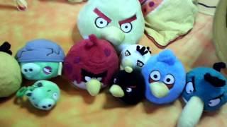 Обзор моих плюшевых птичек и свинок Angry Birds