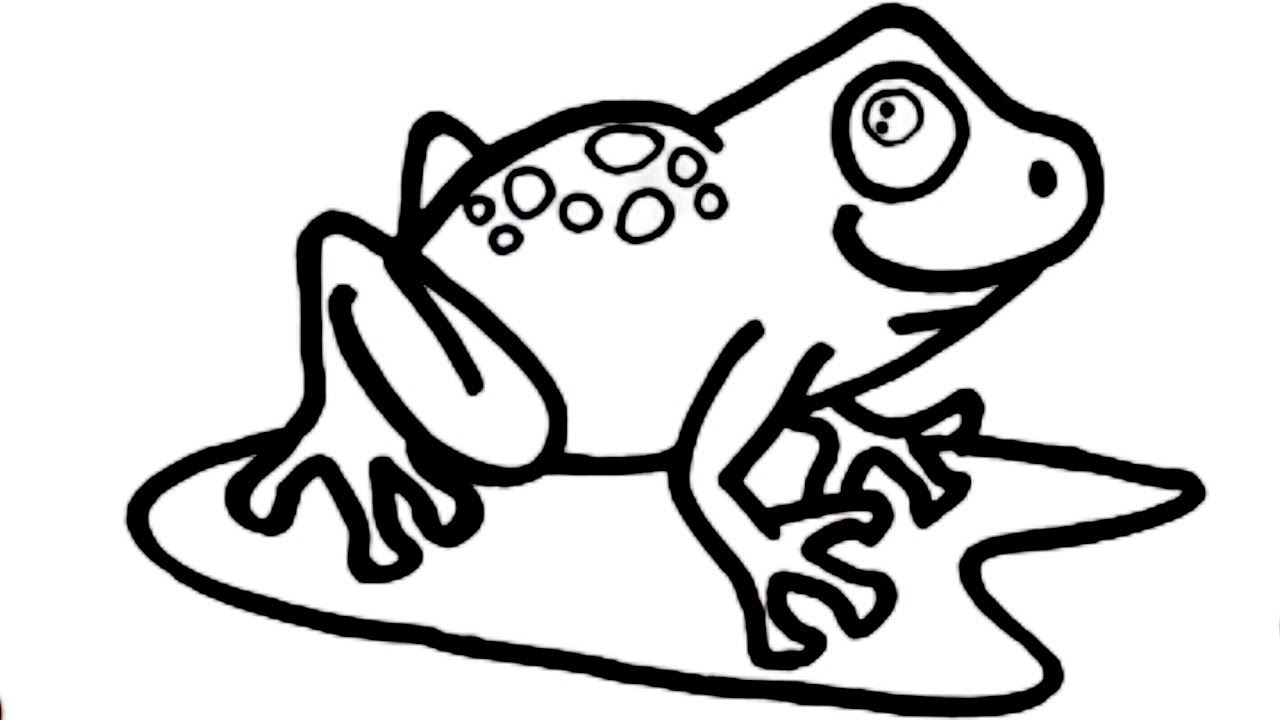 How to draw cute frog drawing and painting very easy ...