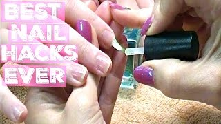 💅 Best Natural Nail Manicure Tutorial on YouTube Professional Nail Hacks