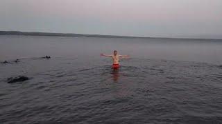 ОНЕЖСКОЕ ОЗЕРО зимнее плавание 05.01.2020
