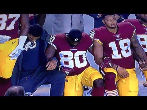 NATIONAL ANTHEM!!! OAKLAND RAIDERS @ WASHINGTON REDSKINS!!! NFL NATIONAL ANTHEM PROTEST!!!