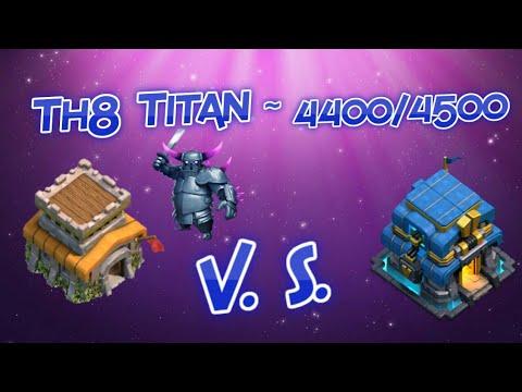 || Clash Of Clans || Th8 Titan Push 4400/4500 || Govape Attacks ||