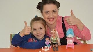 Дитяча кімната. Лялька Барбі і песики, Ігровий набір Іграшки для дівчаток Barbie baby Kids