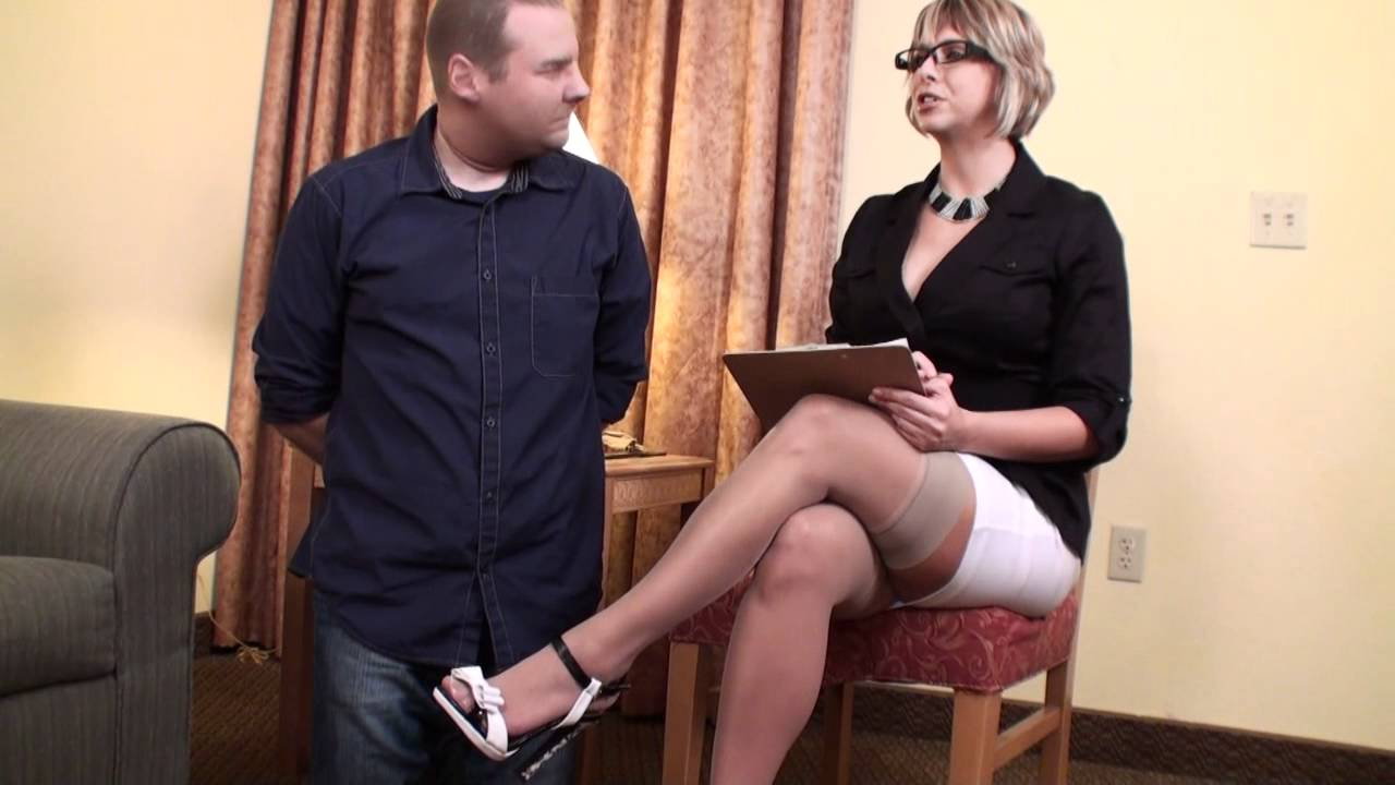 Goddess Brianna interviews potential footslave - YouTube