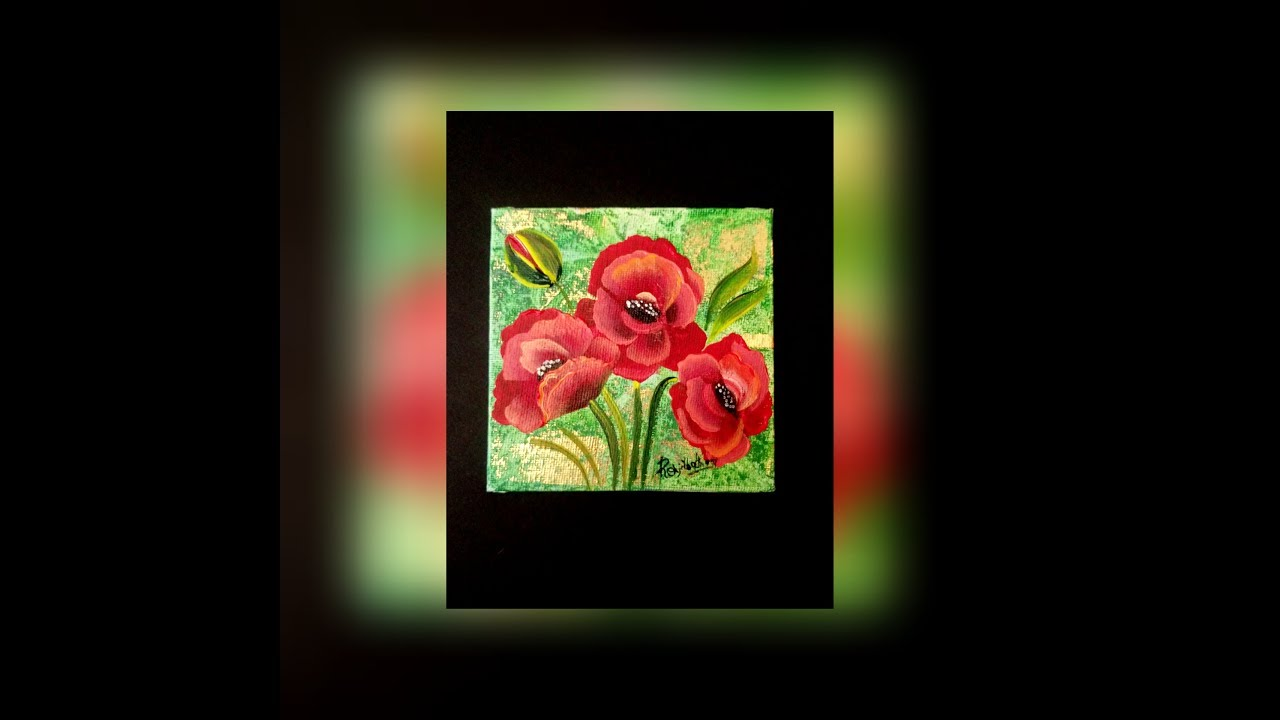 How to paint a poppy flower using one strokesimple and easy how to paint a poppy flower using one strokesimple and easy painting day30 mightylinksfo Gallery