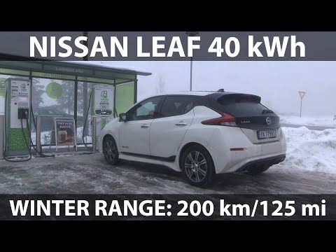 Nissan Leaf 40 kWh winter range test