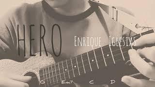 Hero   Enrique Iglesias    ukulele cover  【lyric&chords】