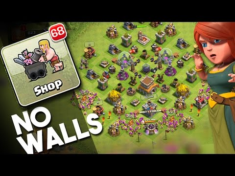 TH8 NO WALLS  - Clash of Clans  - UPGRADING TH8 WITH NO WALLS