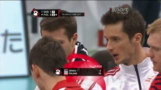 Men's volleyball World Cup 2011 Poland - Serbia Part 5/6