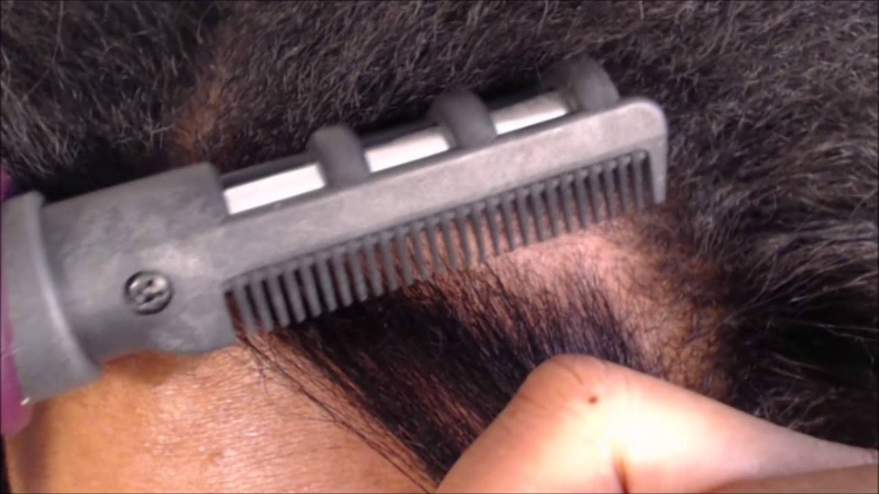 Hot N Silky Root Straightening Comb Review And Demonstration