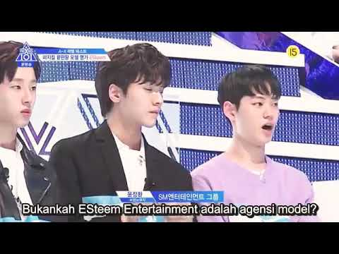 Produce X 101 SM ESteem Ent  Trainees Cat Walk Runway with Lee Dong Wook PD  Indo Sub