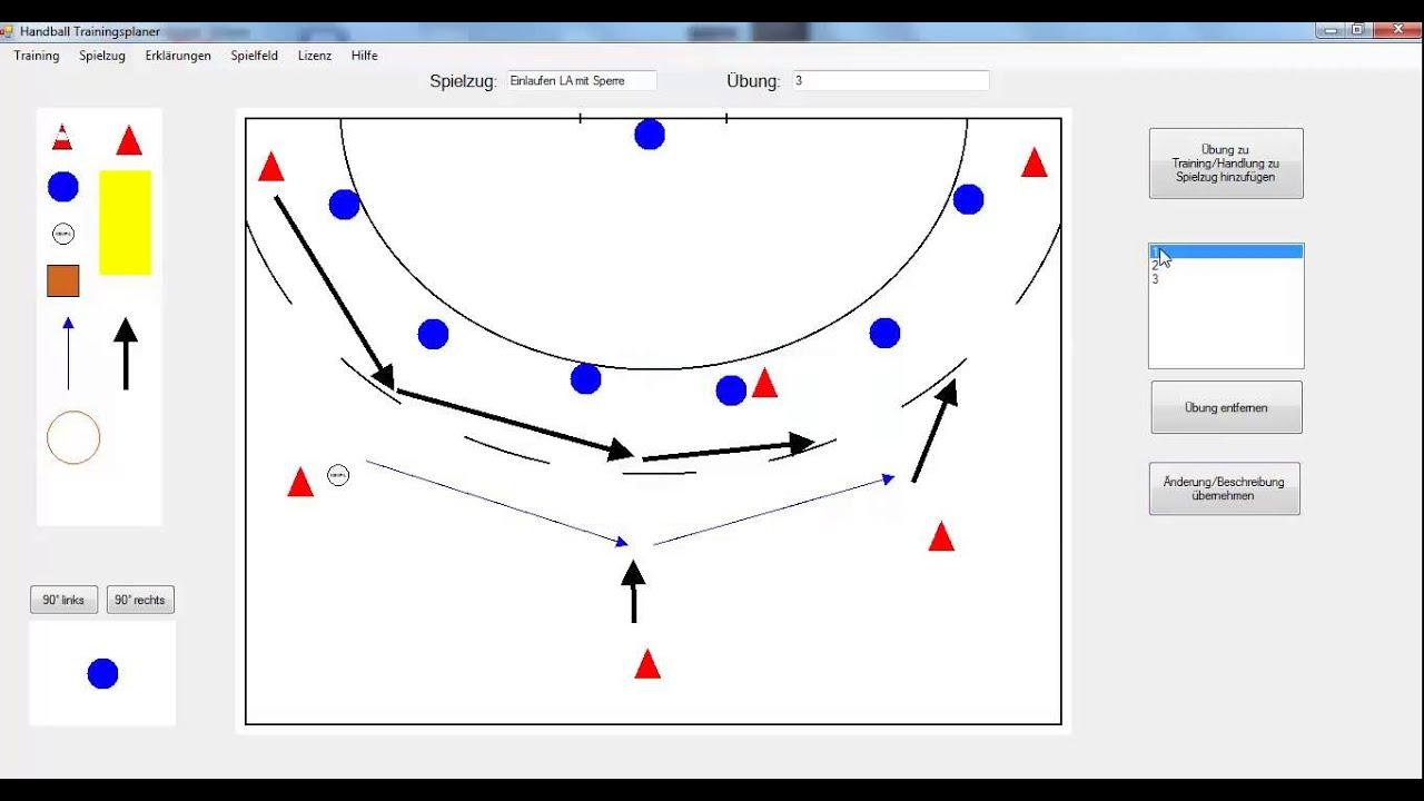 handball trainingsplaner tutorial 4 erstellen eines spielzugs