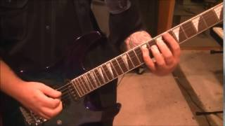 How to play Bad Boys by Whitesnake on guitar by Mike Gross(CVT Lesson for Jesse-Part 1)