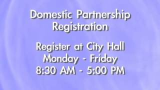 Domestic Partnership Registration