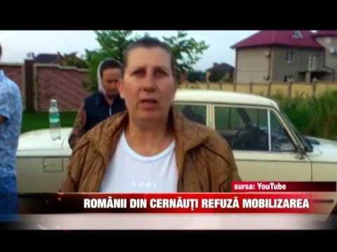 Românii din Cernăuţi refuză mobilizarea