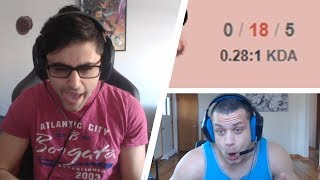 Zapętlaj YASSUO Cosplaying TF BLADE | TYLER1 Reast To Yassuo Inting 0/18 FUNNIEST MOMENTS OF THE DAY #330 | 99 LP