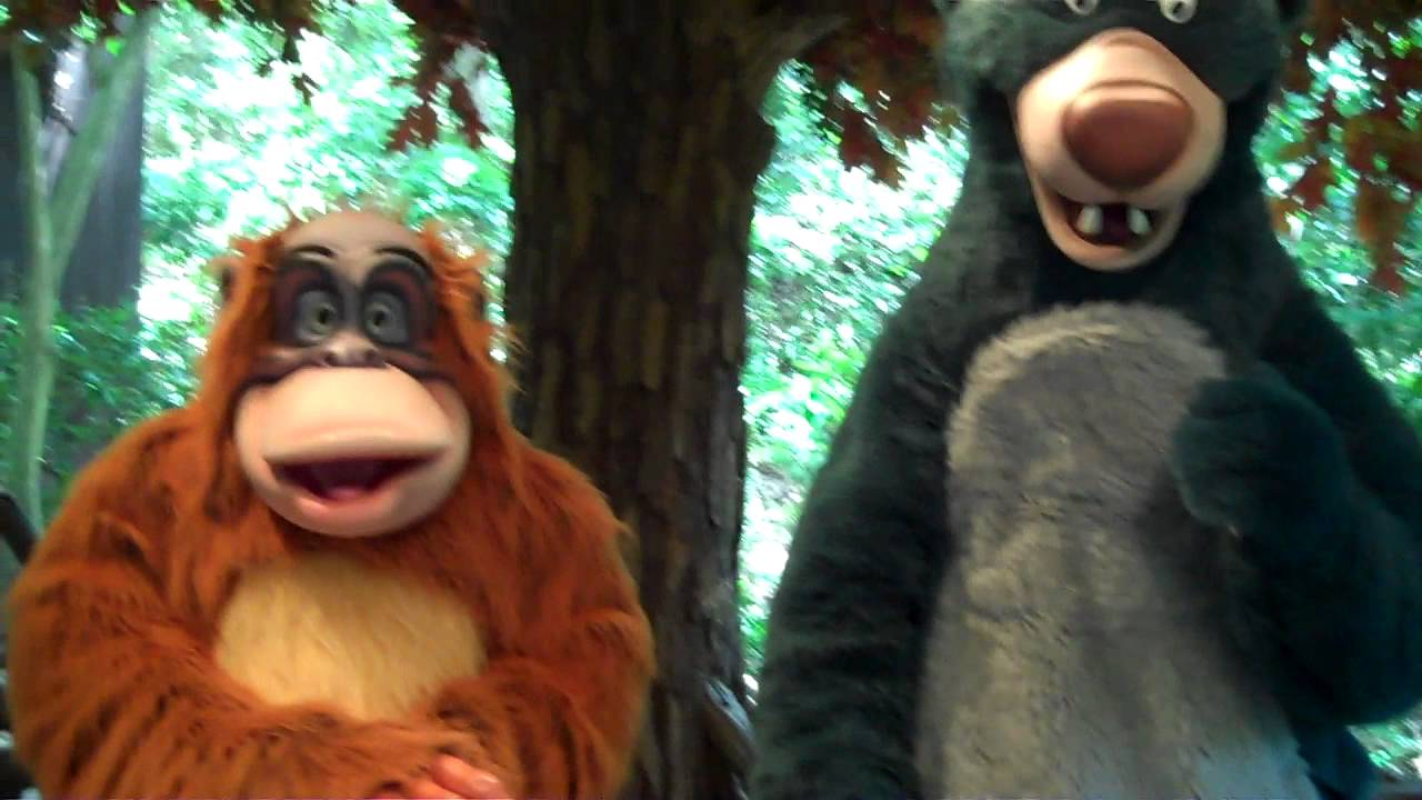 me talking to king louie amp baloo about quotthe jungle book