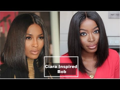 Ciara Inspired Bob Lace Front Wig: Only $106!!👀😱 Omgherhair