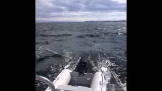 Ericson 27 Downwind Sailing in 25kts of wind