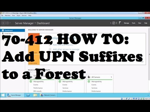 Adding Alternate UPN Suffix to Active Directory Forest