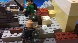 Lego Saving Private Ryan throwing helmet scene
