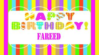Fareed   Wishes & Mensajes - Happy Birthday