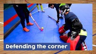 Defending the corner - Indoor Goalie Technique   Hockey Heroes TV