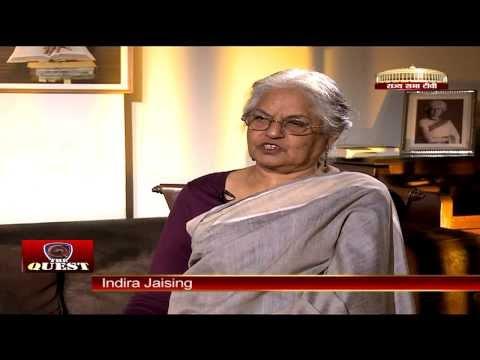 Indira Jaising in 'The Quest'