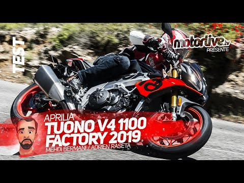 APRILIA TUONO V4 1100 FACTORY 2019   TEST MOTORLIVE