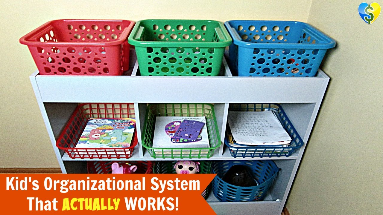 Kid S Quot Dollar Tree Quot Organizational System That Actually