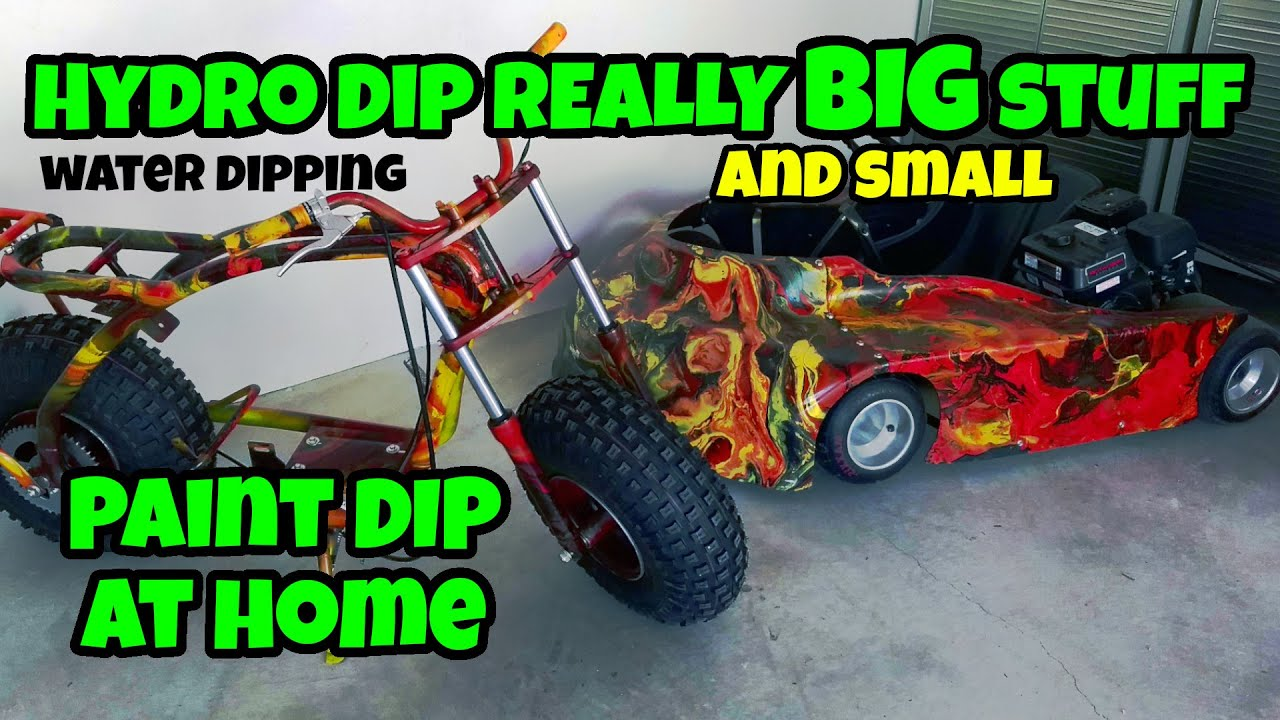 How to hydro dip big stuff with spray paint at home!