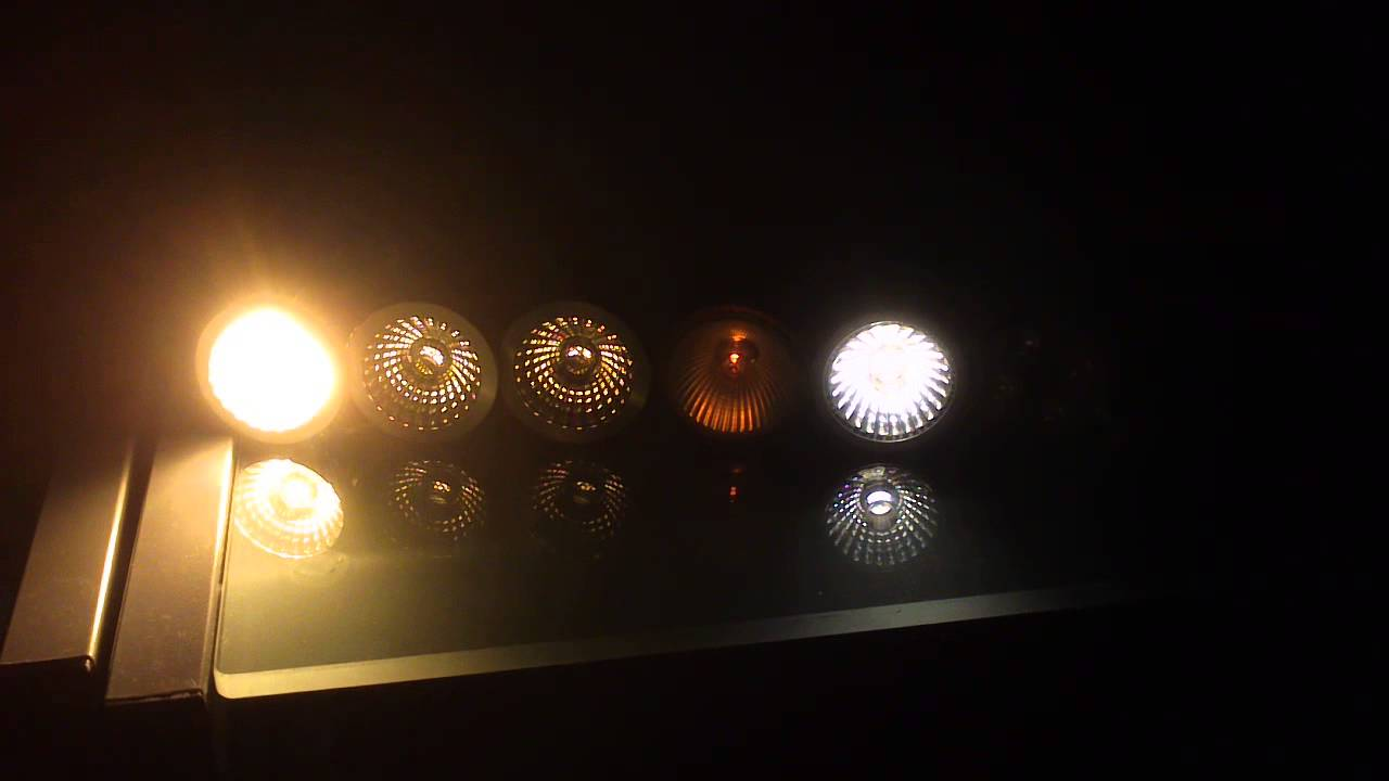 Dimmable LED Downlight Comparison with 12V 50W Halogen ...
