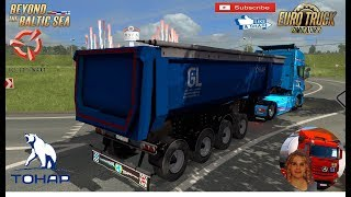 Euro Truck Simulator 2 (1.36)   Trailer Tipper Tonar-95234 Ownable v1.0 1.36.x Scania R 2012 by Fred Luga to Saint Petersburg Russia DLC Beyond the Baltic Sea by SCS Software + DLC's & Mods  Support me please thanks Support me economically at the mail van